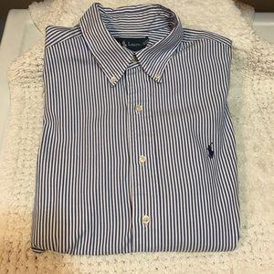 Ralph Lauren Classic Fit Blue/white  16 32/33